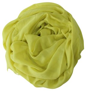 Gucci Gucci 371482 Women's Cotton GG Diamante Scarf Muffler, Yellow