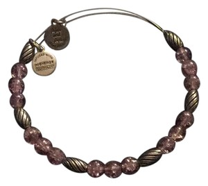 Alex and Ani Alex and Ani Mulberry Watercolor silver beaded Bangle