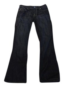 Rock & Republic Denim Chic Designer Stylish Flare Leg Jeans-Dark Rinse