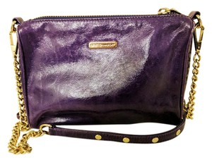 Rebecca Minkoff Leather Gold Studded Chain Cross Body Bag