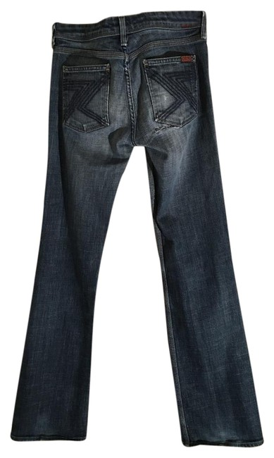 Item - Blue Medium Wash Flynt Style 5 Pocket Ripped Boot Cut Jeans Size 28 (4, S)