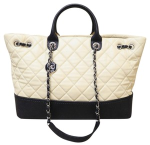 Chanel Leather Brand New Satchel in beige