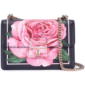 Dolce&Gabbana Leather Rose Shoulder Bag