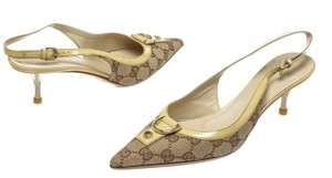 Gucci Brown/Yellow Pumps