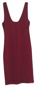 Bar III short dress Maroon on Tradesy