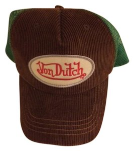 Von Dutch Green and Brown Von Dutch Trucker Hat