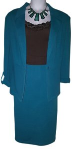 Cato Textured Teal Skirt and Jacket