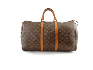 Louis Vuitton Travel Vintage Keepall Duffle Brown Travel Bag