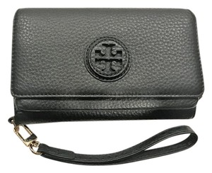 Tory Burch Tory Burch Marion Smartphone Wallet Black Leather New With Tags
