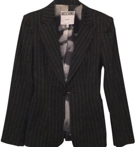 Moschino Grey & White Blazer