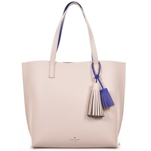 Kate Spade Leather Tasha New With Tags Tote in Beige/Bule