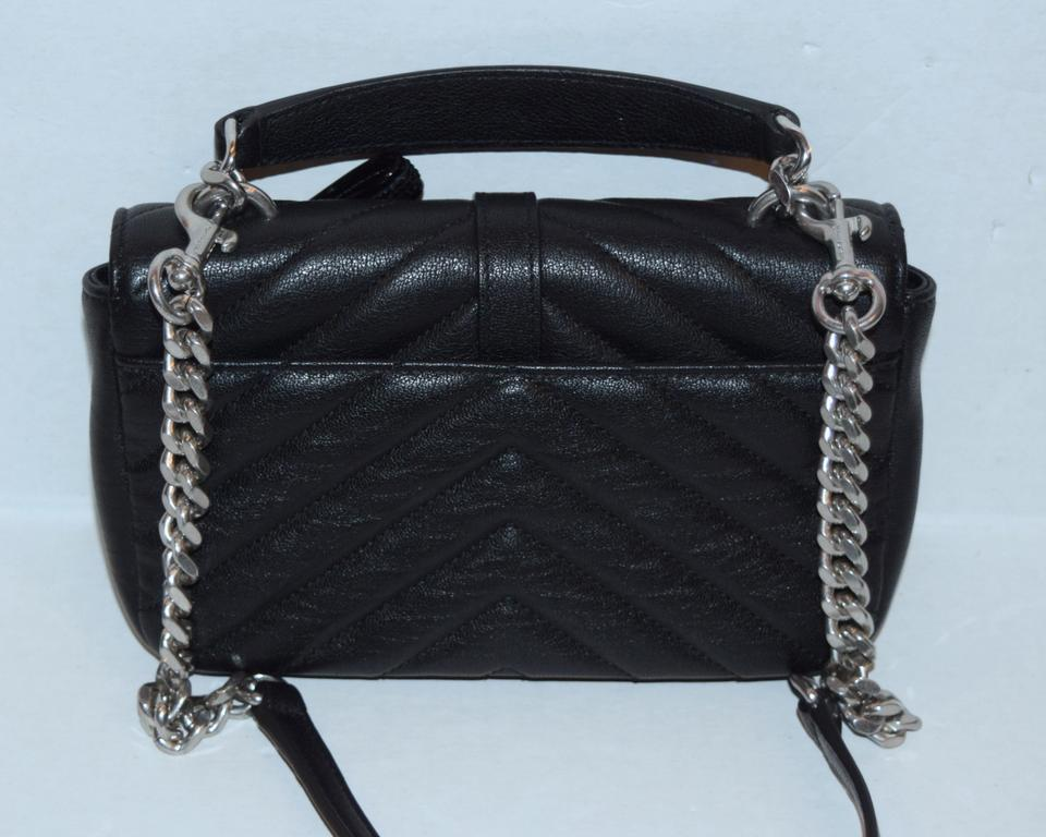 c00b5a4520 yslbeautiful saint laurent monogram new ysl college chain mix and match  black leather cross body bag with ysl