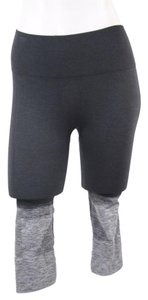 Lululemon Seamlessly Street Crop Heathered Ombre Black Gray
