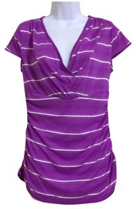 Nine West Top Purple & White