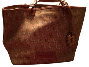 Dooney & Bourke Fabric Tote in Brown and Tan