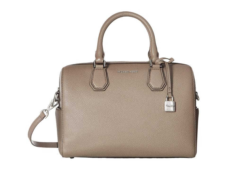 e8c8dfa643a4 Michael Kors Mercer Studio Medium Duffel Cinder Leather Satchel ...