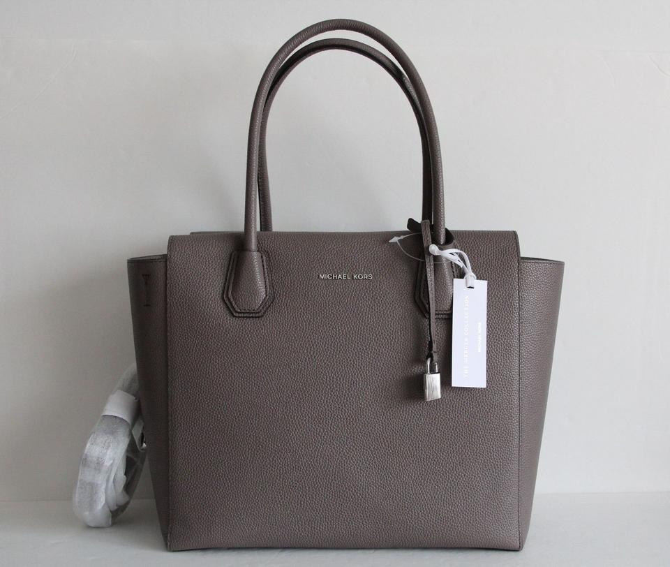 596c34e69e9a Michael Kors Mercer Studio Leather Large Satchel in Cinder Image 9.  12345678910
