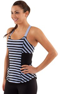Lululemon Striped Luon Racerback Yoga Gym Run Rank Top