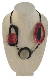 Alisha D. Modern Red and Black Statement Necklace