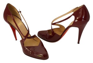 Christian Louboutin Mary Jane Classic Maroon Pumps