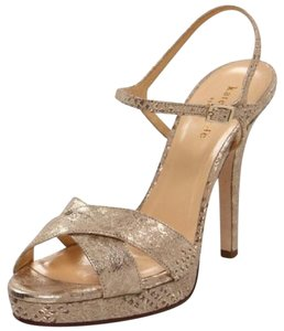 Kate Spade Natural Python Metal Print Platforms