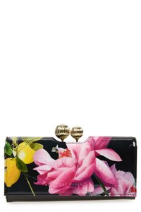 Ted Baker Ted Baker London Marggo Citrus Bloom Printed Leather Matinee Wallet