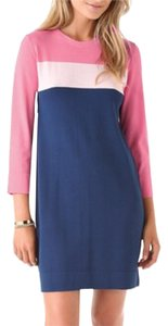 Diane von Furstenberg short dress Pink/navy on Tradesy