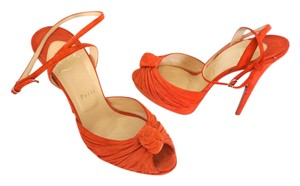Christian Louboutin Greissimo Stiletto Orange Sandals