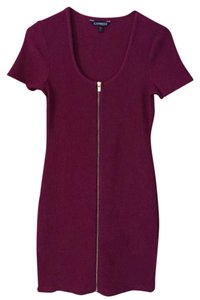 Express short dress Wine/Burgundy on Tradesy