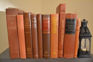 Vintage Style Books - Rustic Brown - Set Of 10