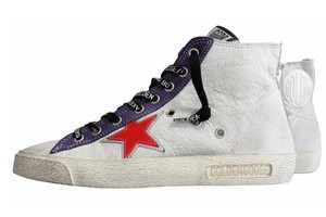 Golden Goose Deluxe Brand White/Red/Purple/Blue/Silver Wedges
