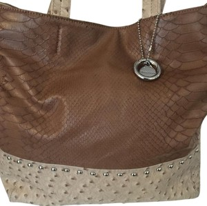 Big Buddha Tote in Brown and Tan
