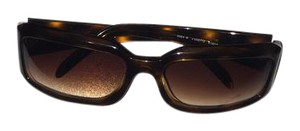 Chanel Chanel Vintage Brown Square Tortoise Sunglasses with Embellished Logo