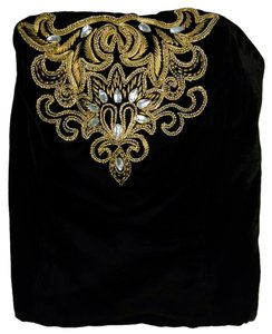 Chloé Vintage Embroidered Embellished Top Black