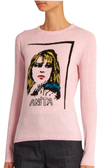 Item - Anita Wool and Cashmere-blend Pale Pink Sweater