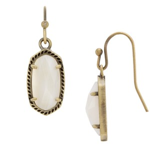 Kendra Scott Kendra Scott Lee Earring in White Banded Agate