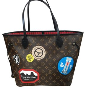 Louis Vuitton Tote in Brown/ Red/ Black