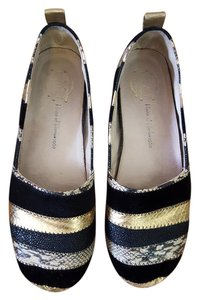 House of Harlow 1960 Black/Gold Mixed Flats