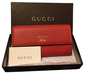 Gucci Red Gucci Wallet