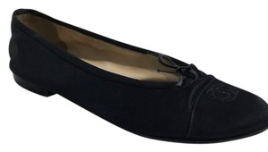 Chanel Ballerina Satin Black Flats