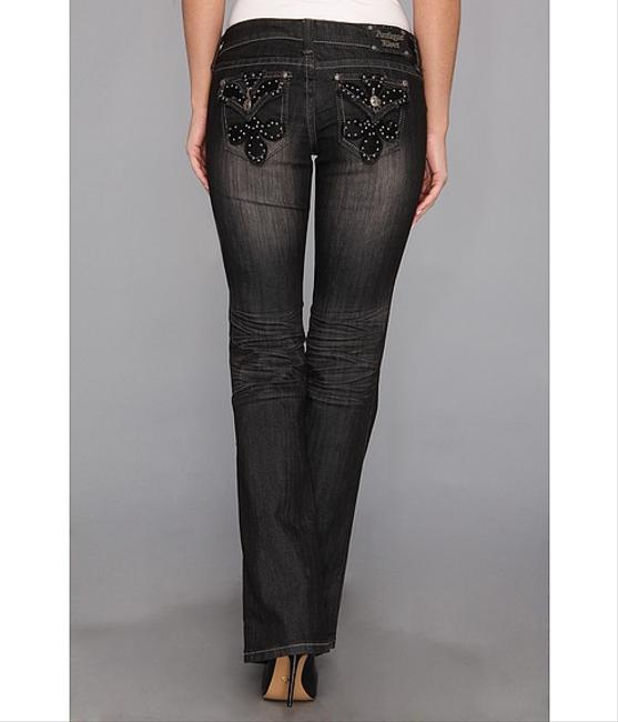 Other Antique Rivet Low Rise Embellished Boot Cut Jeans-Dark Rinse