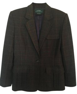 Lauren Ralph Lauren Wool blue/green/burgundy Blazer