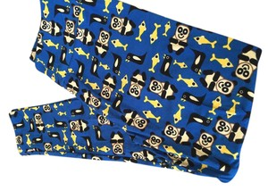 LuLaRoe #lularoe #leggings #panda #fish #penguin Blue yellow black white Leggings