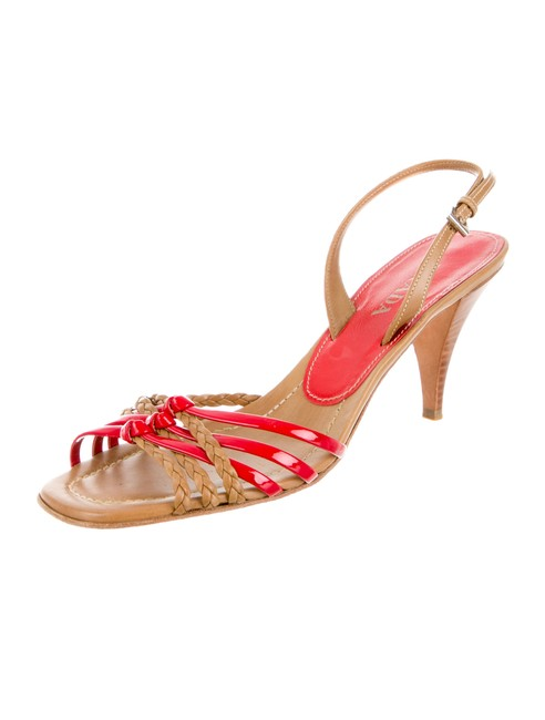Item - Coral Taupe Brown Braided Heels Pumps Size US 8 Narrow (Aa, N)