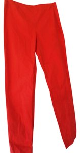 La Via 18 Cropped Size 40 Straight Pants Tangerine