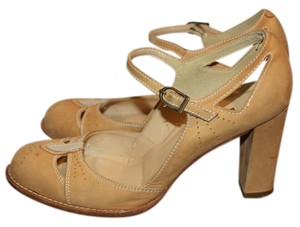 Hype Soft Suede Mary Janes Tan Pumps