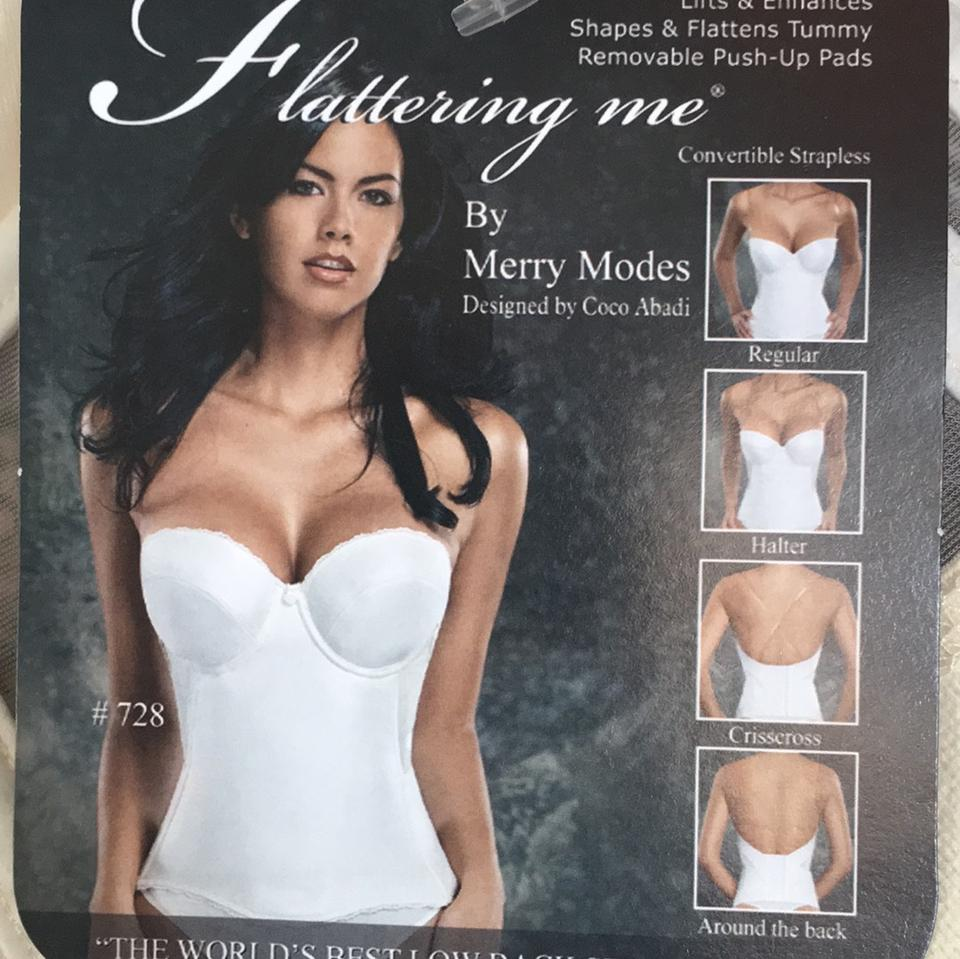 1ede3dc1841 Merry Modes Ivory Flattering Me Low Back Strapless Bra Image 3. 1234