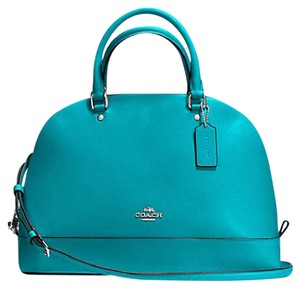 Coach Date Night Valentine's Day Gift Night Out 37218 Satchel in Turquoise