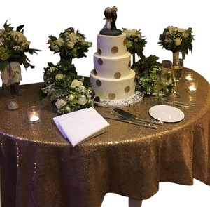 Sequin Gold Table Cloths