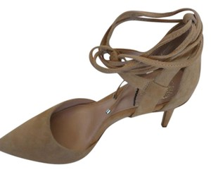 Vince Camuto Pointed Toe Leather Almond beige Pumps